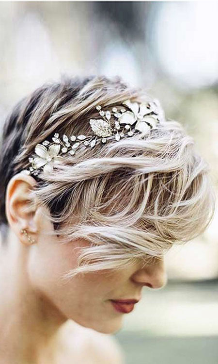 Short Hairtyle for Weddings, Wedding Hair Short Pixie