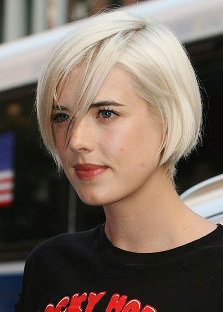 Short Platinum Blonde Hairtyle, Bob Hair Short Bobs