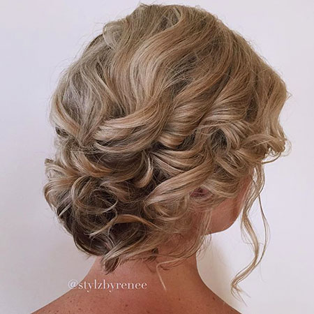 Updo Hair Short Curly
