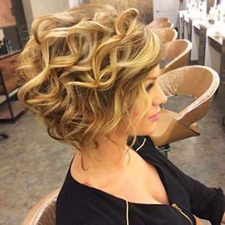 Hair Short Curly Wedding