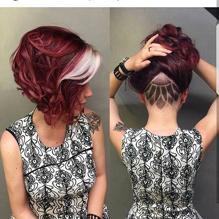 Hair Color Pixie Layered