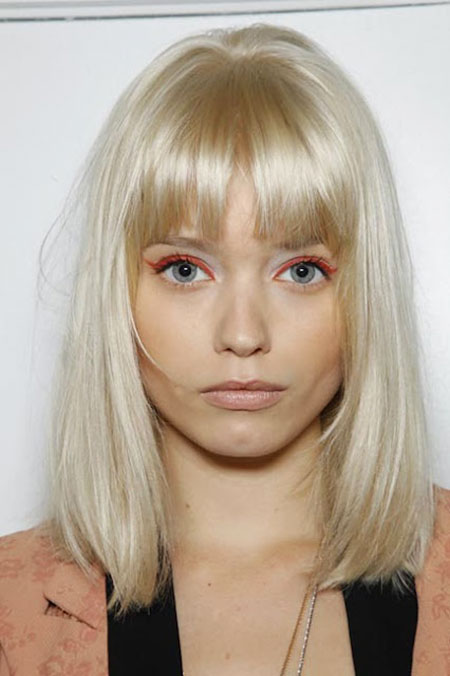 Blonde Platinum Hair Bangs
