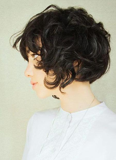 Curly Short Hair Bob