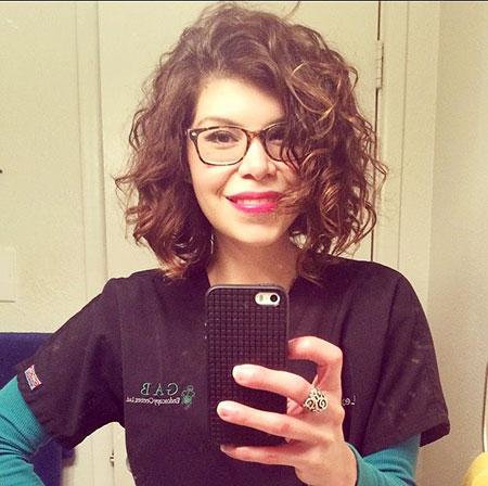 Hair Curly Short Dry