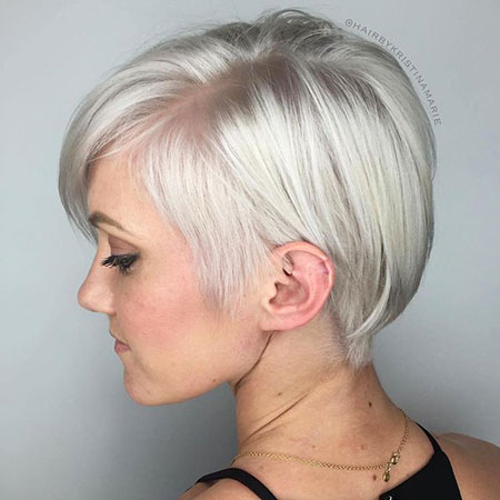 Pixie Blonde Fine Parted