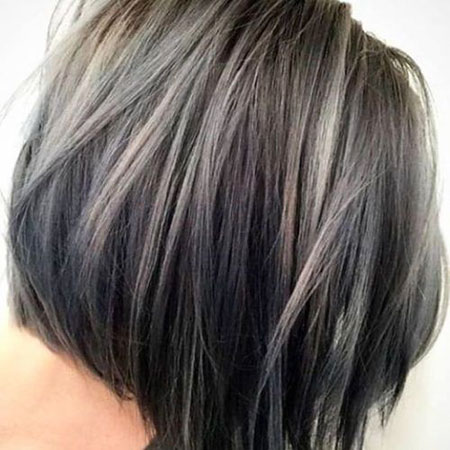 Hair Bob Color Grey