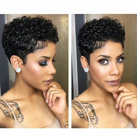 Hair Short Natural Black