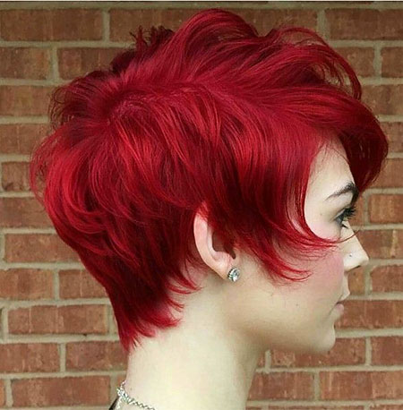 Hair Red Short Layered