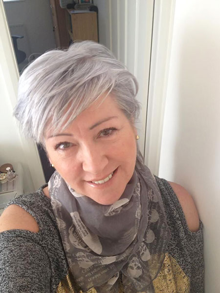 Short Hair Pixie Grey
