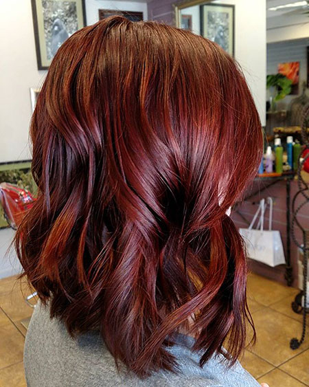 Hair Red Color Layered