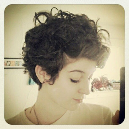 Curly Pixie Short Hair
