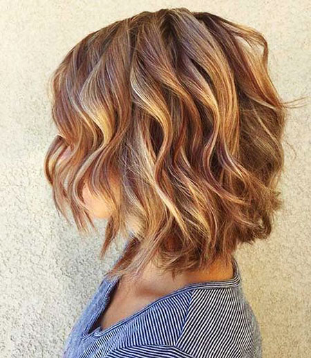 Hair Balayage Wavy Short