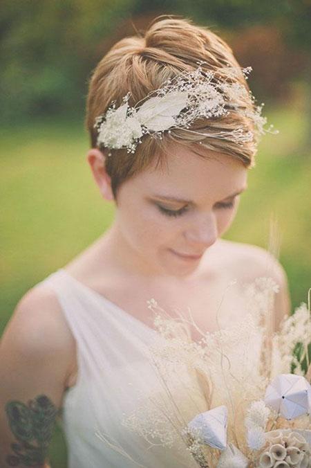 Wedding Hair Pixie Bridal