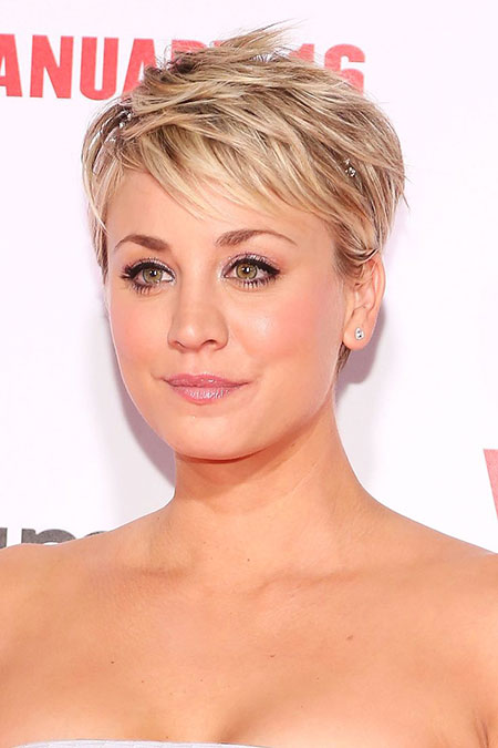Kaley Cuoco Pixie Hair, Short Hair Styles Work