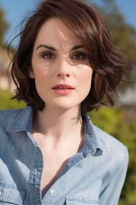 Michelle Dockery Hair, Short Length Wavy Hair
