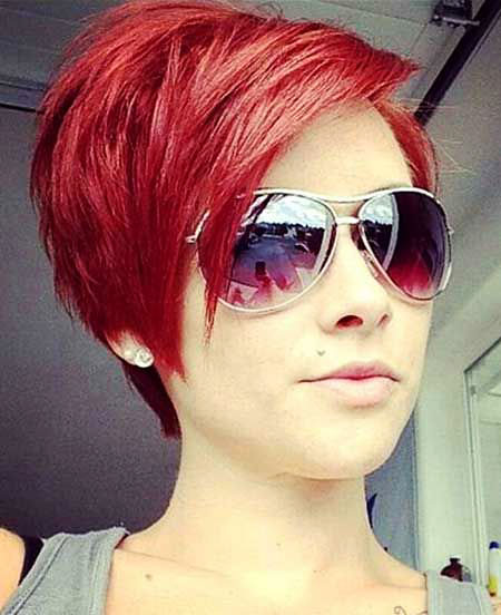 Hair Color Short Red