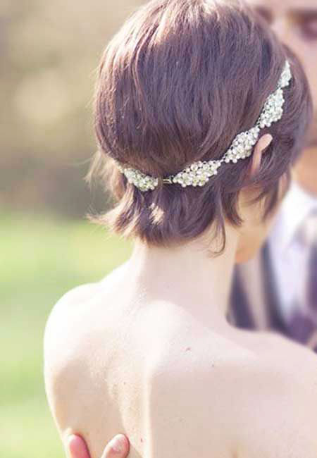 Hair Wedding Short Bridal