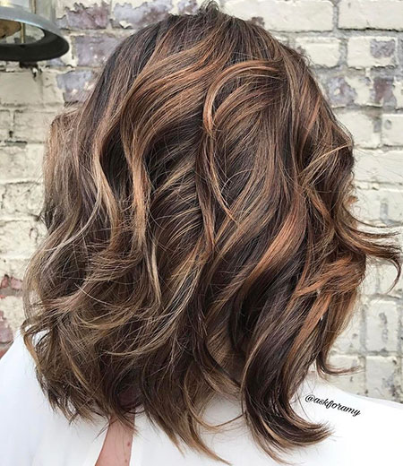 Length Balayage Hair Wavy