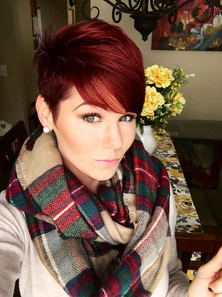Pixie Red Short Hair