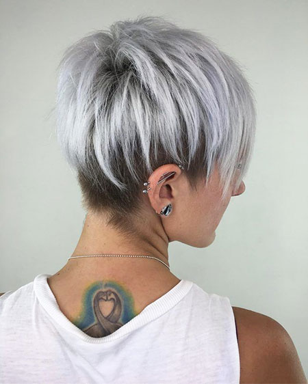 Pixie Hair Silver Layered