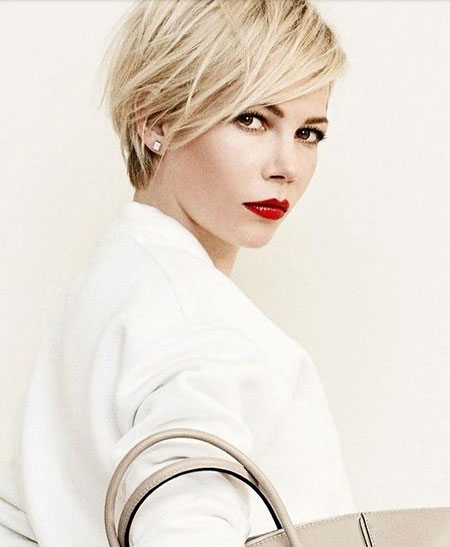 Michelle Williams Short Haircut, Short Pixie Hair 30
