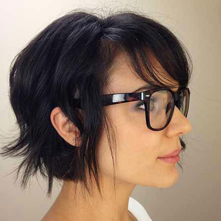 Dark Brown Hair, Bob Short Pixie Choppy