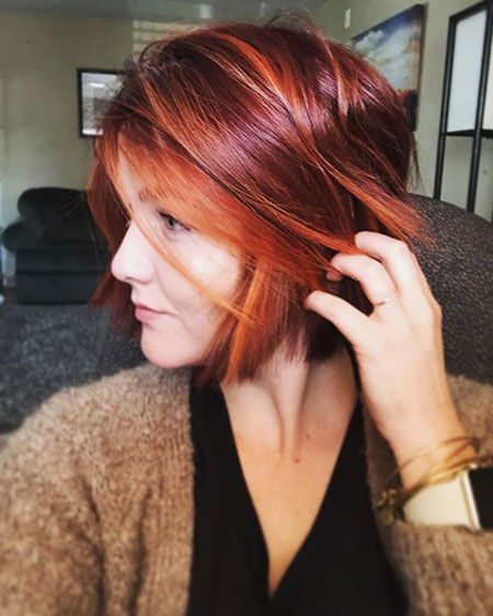 Copper Red Bob, Hair Bob Red Short