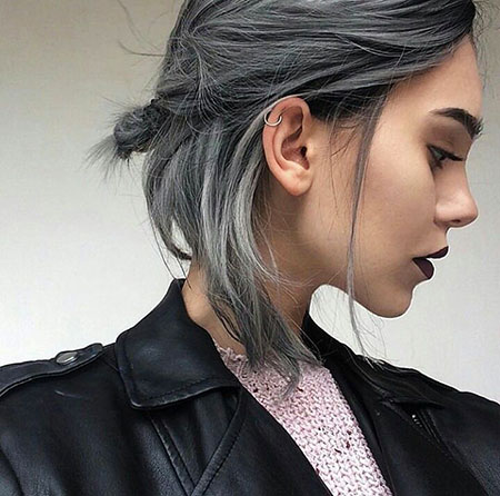 Cool Hair Style and Color, Blonde Hair Ash Grey