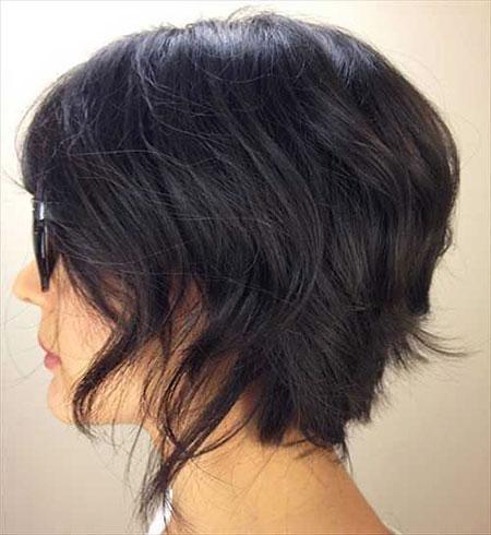 Wavy Layered Short Hair, Bob Choppy Girls Short