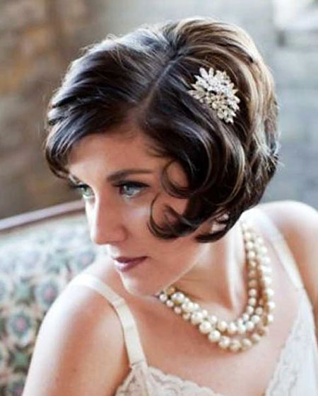 Gatsby Hairtyle, Wedding Hair Short Hairtyles