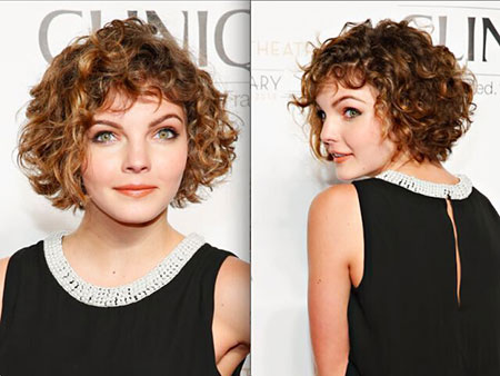 Curly Short Hair for Round Faces, Curly Short Hair Face
