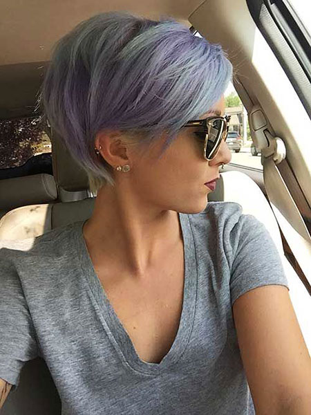 Grey Pixie Bob, Short Pixie Hair Cut