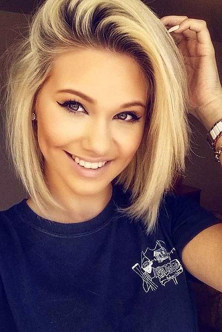 Short Hair Blonde Face