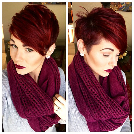 Pixie Short Red Shag