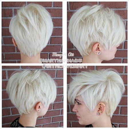 Pixie Short Blonde Hair