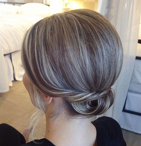 Short Low Updo Layered