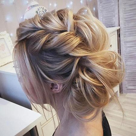 Hair Updo Braided Medium