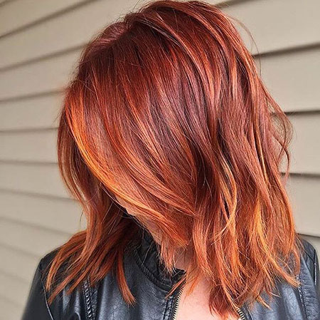 Hair Layered Red Copper