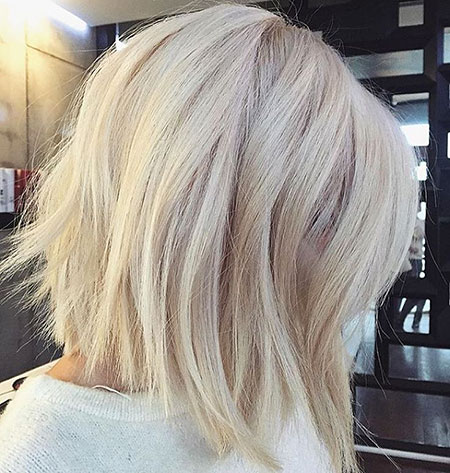 Platinum Blonde Choppy Bob