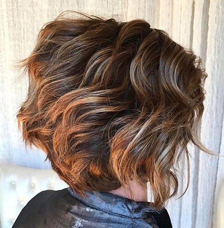 Layered Highlights Hair Bob