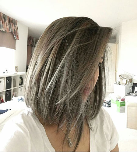 Bob Short Balayage Layered