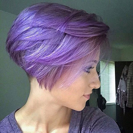 Purple Bob Layered Short
