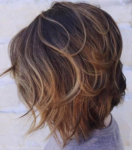 Layered Bob Brown Hair