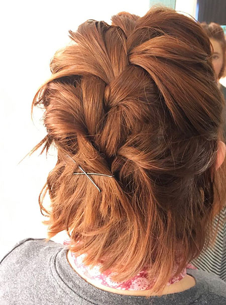 Hair Red Braid Short