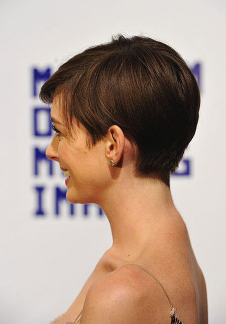 Anne Hathaway Short Hairtyle, Pixie Anne Hathaway Choppy