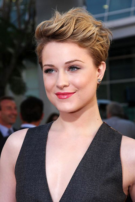 Short Haircut for Women with Round Faces, Face Pixie Hair Rachel