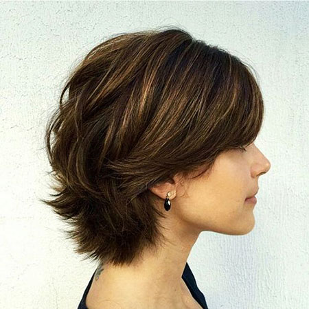 Short to Medium Layered Haircut, Thick Layered Short Hair