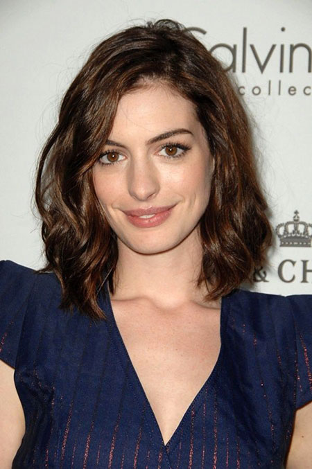 Bob Anne Hathaway Hairtyles