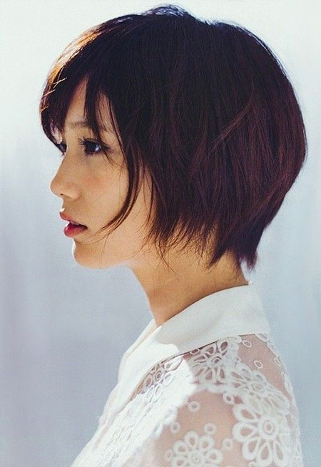 Short Shag Bob Asian