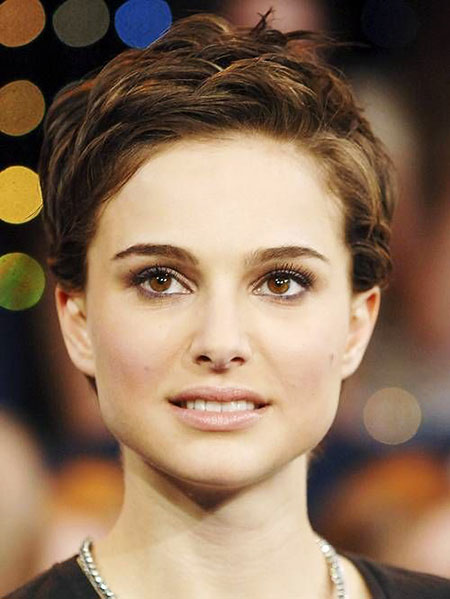 25 Natalie Portman Short Hair Celebrity Short Hairstyles